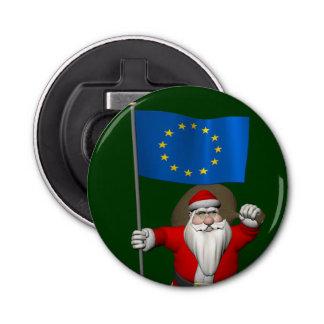 欧州連合の旗を持つサンタクロース 栓抜き