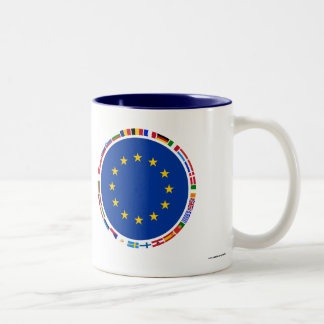 欧州連合の旗 ツートーンマグカップ