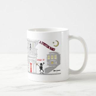 欲求と示される市街電車 コーヒーマグカップ