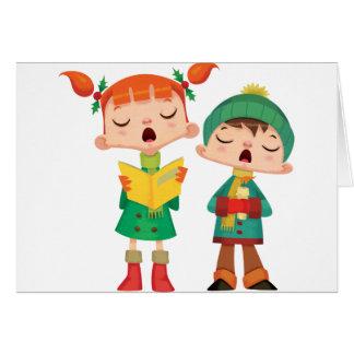 歌うクリスマスのキャロル グリーティングカード