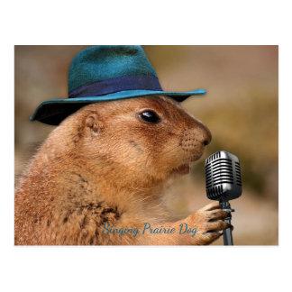 歌うプレーリードッグ ポストカード