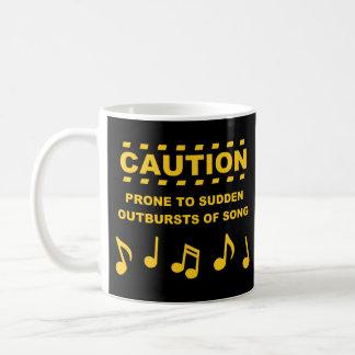 歌の突然の爆発に傾向がある注意 コーヒーマグカップ
