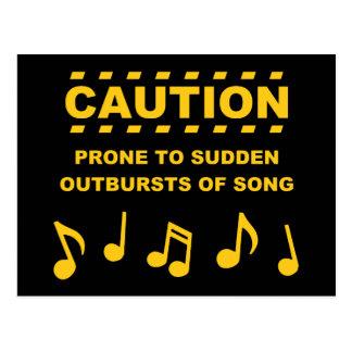 歌の突然の爆発に傾向がある注意 ポストカード