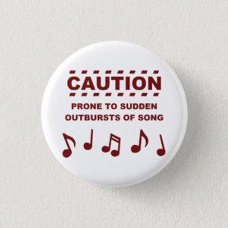 歌の突然の爆発に傾向がある注意 3.2CM 丸型バッジ