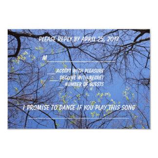 歌の要求のスプリントの木Rsvp 8.9 X 12.7 インビテーションカード
