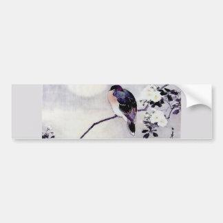 歌の鳥の日本人のプリント バンパーステッカー