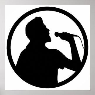 歌手アイコン-カラオケのロゴ ポスター