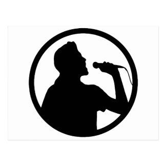 歌手アイコン-カラオケのロゴ ポストカード