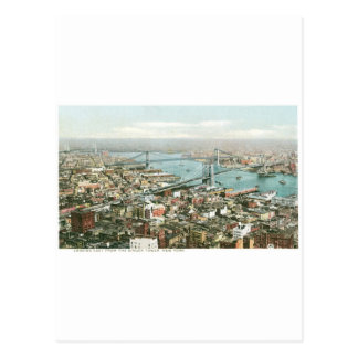 歌手タワー、ニューヨークから東に見ます ポストカード