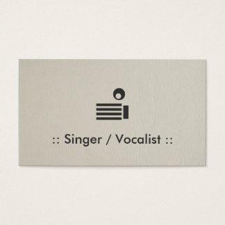 歌手/ボーカリストのシンプルでエレガントなプロフェッショナル 名刺