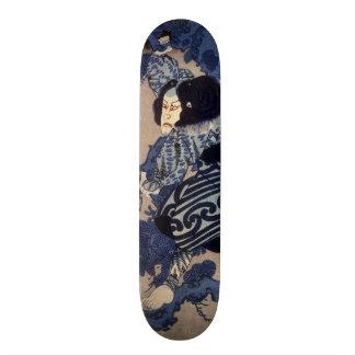 歌舞伎役者、Kuniyoshi、Ukiyo-e、国芳のKabuki俳優 スケートボード