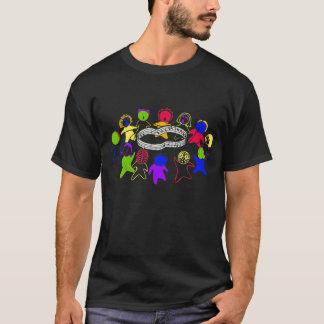 歌(メンズ)の黒い円 Tシャツ