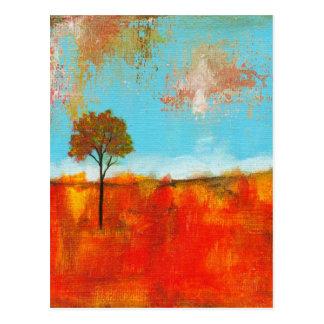 歓喜の抽象的な景色の木の芸術の絵画 ポストカード