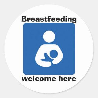 、歓迎ここに母乳で育てるbficon med ラウンドシール