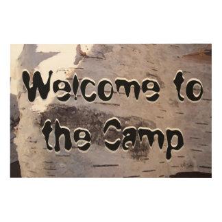 歓迎されたキャンプの印 ウッドウォールアート