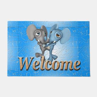 歓迎されたシリーズかわいい象 ドアマット