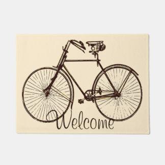 歓迎されたバイクの自転車のドア・マットのオートミールのクリームの茶色 ドアマット