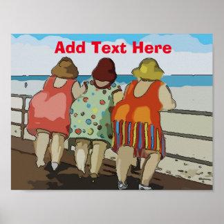 歓迎されたビーチの漫画 ポスター