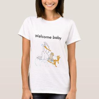 歓迎されたベビー Tシャツ