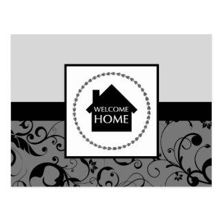 歓迎された家のダマスク織 ポストカード
