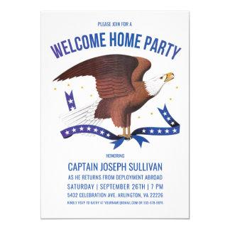 歓迎された家のパーティの招待状|の軍隊|のワシ カード