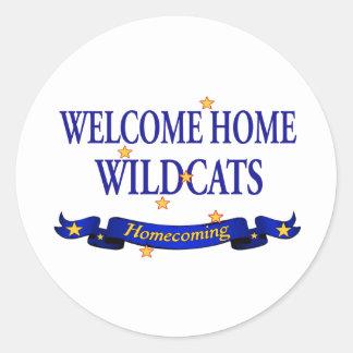 歓迎された家の山猫 ラウンドシール