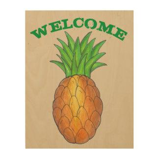 歓迎された家の引っ越し祝いパーティーのギフトのパイナップル装飾 ウッドウォールアート