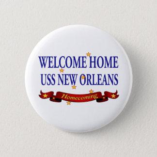 歓迎された家のUSS New Orleans 5.7cm 丸型バッジ