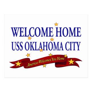 歓迎された家USSオクラホマシティー ポストカード