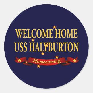 歓迎された家USS Halyburton ラウンドシール
