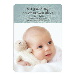 歓迎された少し愛写真の誕生の発表 カード
