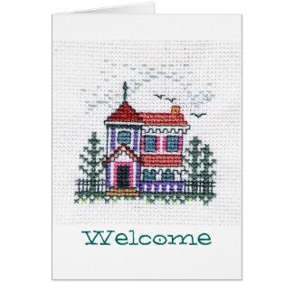 歓迎された挨拶状 カード