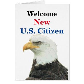 歓迎された新しい米国の市民 カード