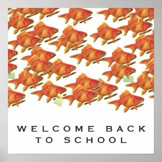 歓迎された新学期 ポスター