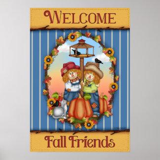 歓迎された秋の友人ポスター ポスター