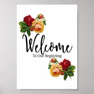 歓迎された結婚式の印 ポスター