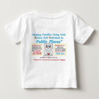 歓迎された自閉症は自閉症と子供へを作成しました ベビーTシャツ