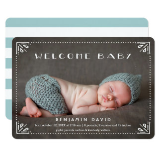 歓迎された赤ん坊の甘く組み立てられた誕生の発表 12.7 X 17.8 インビテーションカード