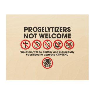 歓迎されなかったProselytizers ウッドウォールアート