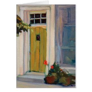 歓迎する戸口 ノートカード