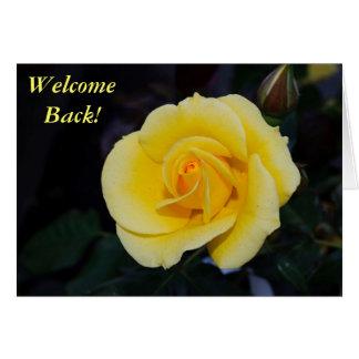 歓迎の黄色バラ カード