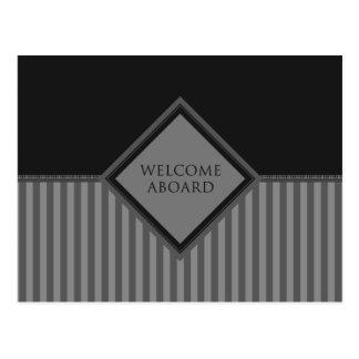 歓迎の(diamondStriped) ポストカード