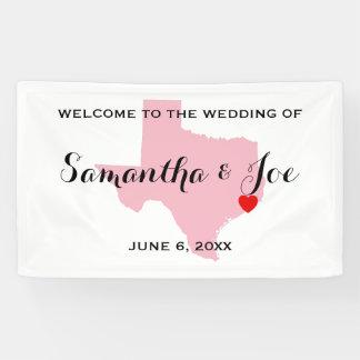 歓迎を結婚するあなた自身のテキサス州を作成して下さい 横断幕