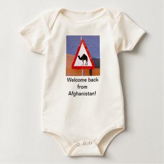 歓迎アフガニスタンから ベビーボディスーツ