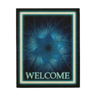 -歓迎エッチングされたダビデの星 ウッドウォールアート