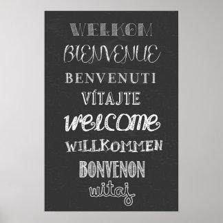 歓迎! 黒板ポスター ポスター