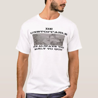 止められないがあって下さい Tシャツ