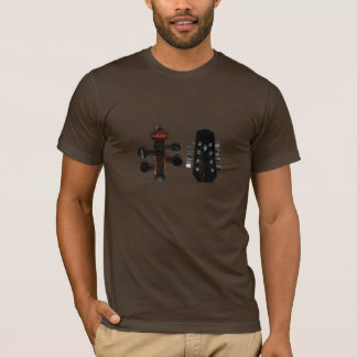 止め枠及びマンドリンの前部及び背部ワイシャツ Tシャツ