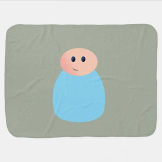 止め釘の人形の男の赤ちゃん毛布 ベビー ブランケット
