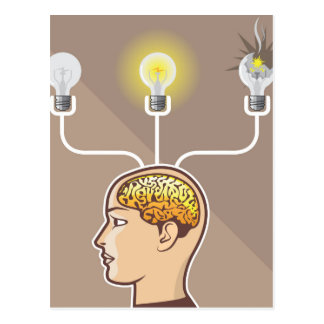 正しいアイディアの上等のベクトル心 ポストカード